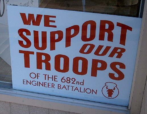 We support our troops Redwood Falls Minnesota