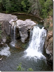 The falls in Ramsey Park Redwood Falls Minnesota 2004